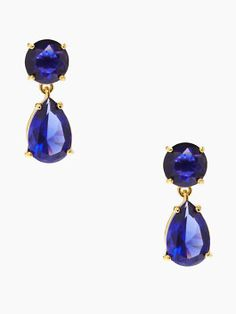 kate spade drop earrings ~~~ who doesn't love anything that comes in sapphire blue??