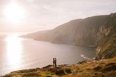 Ireland engagement shoot. Slieve League Cliffs Donegal Ireland. Irish wedding photography. Irish Wedding, Donegal, Engagement Shoots, Cliff, Backdrops, Ireland, Wedding Photography, Explore, Adventure