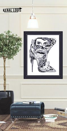 Pen and Ink Wall art