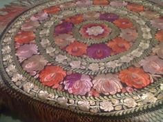 Antique Table Cloth Silk Embroidered Hungarian Colorful Art Nouveau 1918 | eBay