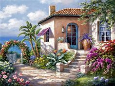 5D Diamond Painting Garden by the Shore Kit