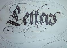 goticized italic by Barbara Calzolari
