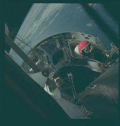 Apollo 9 Hasselblad image from film magazine 20/E - Earth orbit, EVA