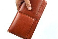 clutch men long wallet purse clutch Leather men clutch coffee modern brown zip clutch men long wallet purse clutch