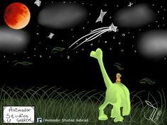 Animador Studios Gabriel: El Dinosaurios un buen Paisaje se ven como bonito Luna…