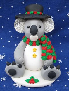 Koala Dressed as a Snowman by designsbyginnybaker, via Flickr