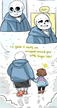 """""""anyway, you shoulda SEEN undyne's face –"""" UMMM tiny hands are sans' only weakness pass it on - credit to treasurefish.tumblr.com"""