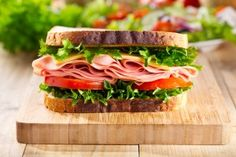 Sandwich with bacon and vegetables Royalty Free Stock Images , Cereal Sin Gluten, Vegetable Stock Image, Sandwich Shops, Bacon Sandwich, Ideas Sándwich, Sandwiches, Lettuce, Ham, Gastronomia