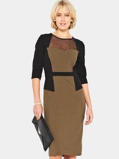 Confident Curves Mesh Insert Dress, http://www.isme.com/savoir-confident-curves-mesh-insert-dress/1270188471.prd