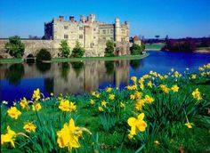 England, UK: Leeds Castle in Spring