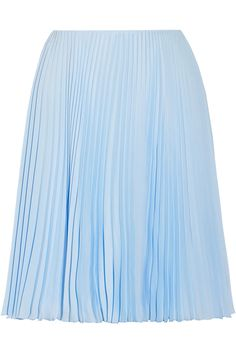 Prada | Plissé crepe de chine skirt | NET-A-PORTER.COM