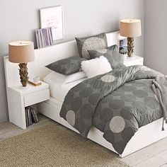 West Elm bed with storage drawers underneath !