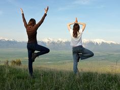 #Yoga at the National Bison Range, Moise, #Montana