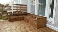 Itse suunniteltu ja tehty sohvat terassille ☺ Deck, Outdoor Decor, Home Decor, Decoration Home, Room Decor, Front Porches, Home Interior Design, Decks, Decoration