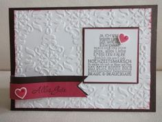 Hochzeitskarte Zum schönsten Tag im Leben