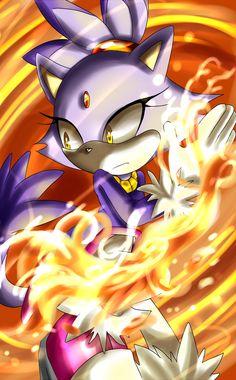 Blaze by Unichrome-uni on deviantART Silver The Hedgehog, Sonic The Hedgehog, Blaze The Cat, Game Sonic, Pokemon, Wolf, Sonic Franchise, Sonic Fan Characters, Sonic Fan Art