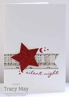 Switch up to gold glitter star... -- Jingle All the Way from Stampin' Up! Tracy May card making ideas