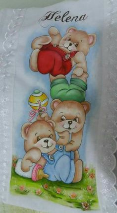 Easy Painting, Αρκουδάκια, Παιχνίδια Nursery Paintings, Easy Paintings, Animal Paintings, Nursery Art, Tole Painting, Fabric Painting, Painting For Kids, Drawing For Kids, Bear Pictures