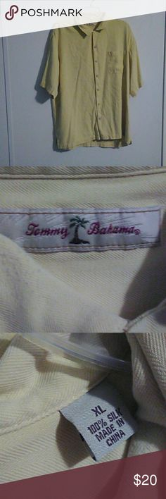 Tommy Bahama mens button down Tommy Bahama pastel yellow men's button down shirt size XL. In great condition. Tommy Bahama Shirts Casual Button Down Shirts