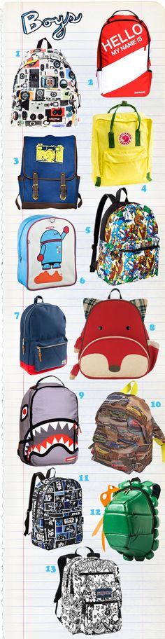 Super Goody Bag Top Boys Backpacks