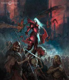 Gothic Fantasy Art, Fantasy Artwork, Dark Fantasy, Warhammer Vampire Counts, Vampires, Warhammer Fantasy Roleplay, Warhammer Aos, Modern Magic, Fantasy Heroes