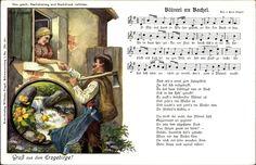 Lied Ak Vogel, Wilhelm, Blümel un Bachel, Erzgebirge, Liebespaar #Erzgebirge