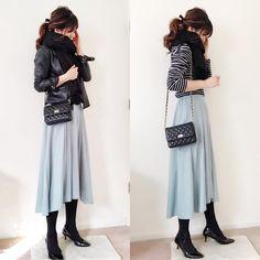 ファッション ファッション in 2020 Cute Modest Outfits, Casual Skirt Outfits, Trendy Outfits, Unique Fashion, Love Fashion, Womens Fashion, Fashion Design, Japanese Fashion, Korean Fashion