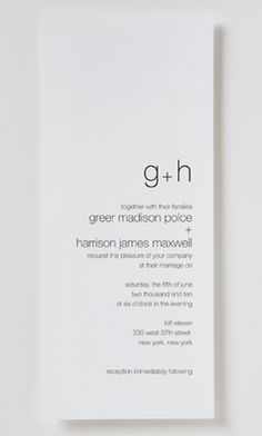 Clean and Simple Invitation, like this idea and then I could stamp a real…