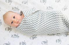Premium Organic Cotton Baby Swaddle Blankets