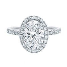 Michel Germani's Oval Halo Diamond Engagement Rings Sydney - Michel Germani