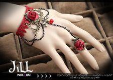 Goth Aristocrat visual bloody rose Utena revolution bracelet ring set B91