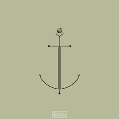 Minimalist anchor with deep meaning - design for Matthias