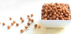 Crispy Spiced Chickpeas - One Handed Cooks Healthy Toddler Snacks, Healthy Meals For Kids, Toddler Meals, Kids Meals, Toddler Recipes, Toddler Food, Dog Food Recipes, Snack Recipes, Cooking Recipes