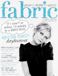 Kirsten Dunst in Fabric Magazine.