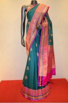 Pure Banarasi Summer Silk Saree                 Product Code: AB212348