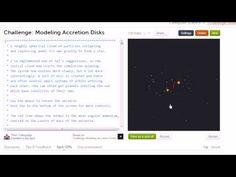 Accreting mass due to gravity simulation | Vie et mort des étoiles | Khan Academy