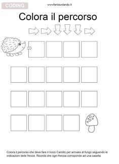 Coding For Kids, Math For Kids, Educational Games For Kids, Preschool Worksheets, Kindergarten Math, Pixel Art, Montessori, Robot, Therapy