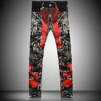 NEW #Mens #Fashion Trend of the Printed Abstract Print #Jeans 8 Sizes J313