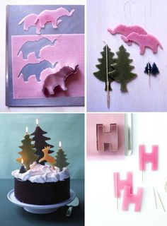 Make your own birthday candles using beeswax sheets and cookie cutters.
