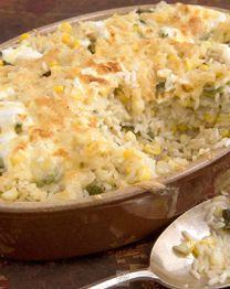Poblano Rice Gratin #recipes #fall #Mexican