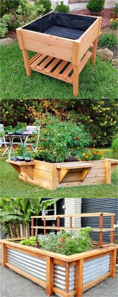 28 Amazing DIY Raised Bed Gardens 28 most amazing raised bed gardens, with different materials, heights, and many creative variations. Great tutorials and ideas on how to build raised beds ! Raised Bed Garden Design, Diy Garden Bed, Garden Boxes, Garden Ideas, Garden Soil, Patio Ideas, Garden Planters, Garden Shrubs, Garden Path