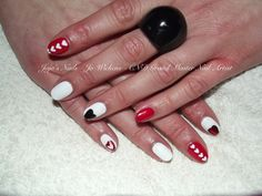 Brisa Lite Smoothing Gel with CND Shellac, hand painted nail art and foil.