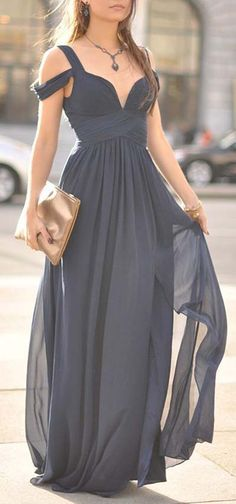 2017 New Blue Off-The-Shoulder Long Tulle Overskirt Bridesmaid Dress
