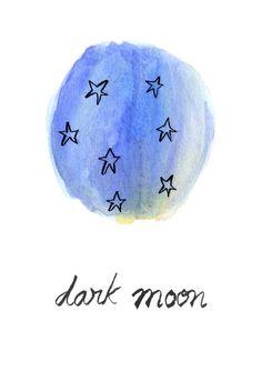 Dark Moon Print. Lana Pelana