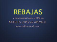 Los Muebles también están de REBAJAS y además tenemos descuentos hasta el 50%  en muebles de la exposición www.muebles-arevalo.com.   #mueblesdescuentos  #mueblesmadrid #mueblesrebajas #nuncalosmueblesfuerontanbaratos