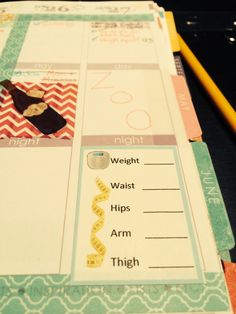 Custom Weight Loss Weekly Tracking Sticker for Erin Condren Live Planner by SameHearts on Etsy