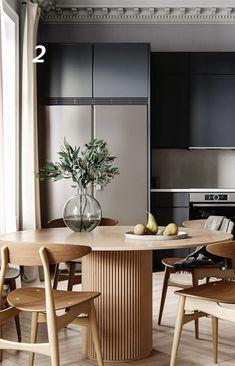 Dining Room Design, Interior Design Living Room, Kitchen Design, Modern Kitchen Cabinets, Kitchen Interior, London Apartment Interior, Dream Home Design, House Design, Neoclassical Interior
