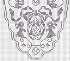Crochet Tablecloth Pattern, Crochet Doilies, Holiday Crochet Patterns, Boarder Designs, Filet Crochet Charts, Fillet Crochet, Easter Projects, Easter Crochet, Cross Stitch Animals