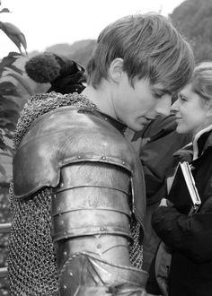 Merlin BBC // Bradley James on set.