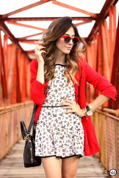 #looksly - Flávia do Fashion Coolture com vestido estampado do Verão 2016